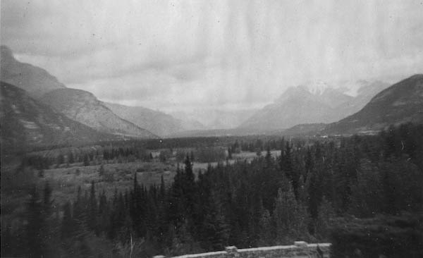 Valley From Hot Springs - Banff On The Right