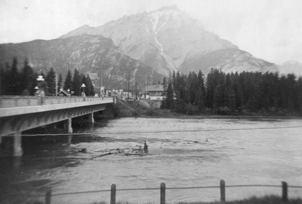 Bridge over Bow River at Banff