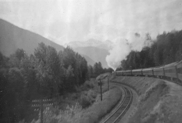A Long Train Heads Into The Hills